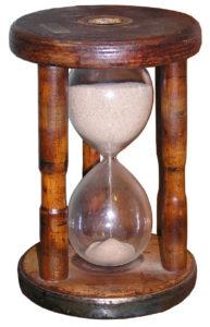 freshly turned hourglass