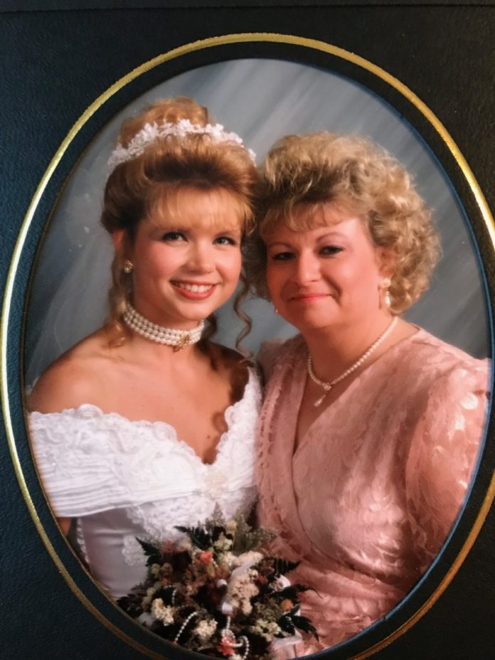 Bride and her mother on her wedding day